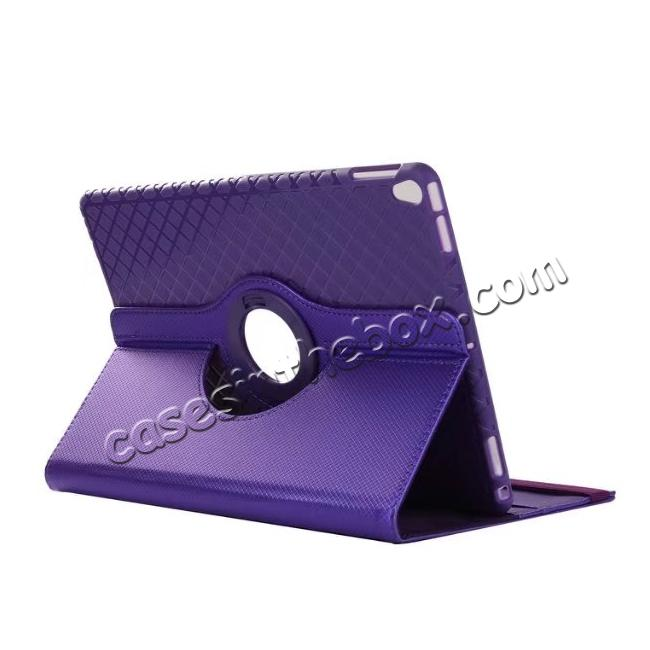 wholesale 360 Degree Rotating PU Leather Case With Stand For iPad Pro 10.5 inch - Purple