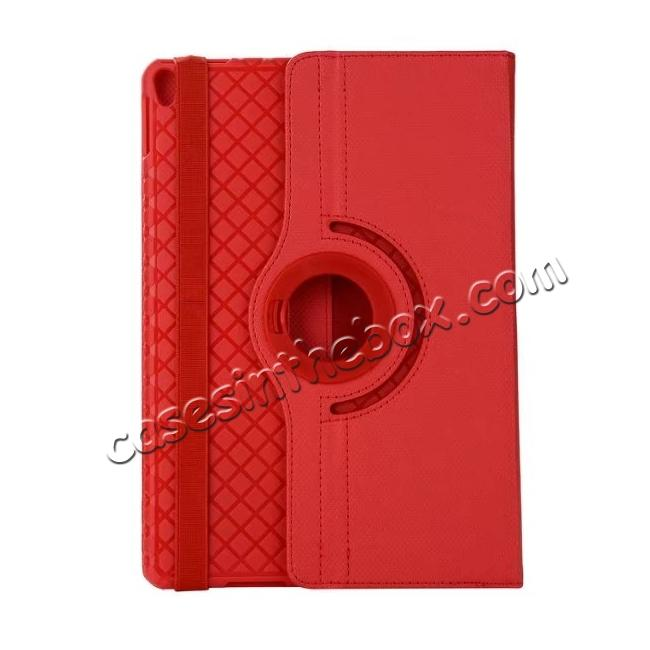 discount 360 Degree Rotating PU Leather Case With Stand For iPad Pro 10.5 inch - Red
