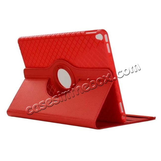 wholesale 360 Degree Rotating PU Leather Case With Stand For iPad Pro 10.5 inch - Red
