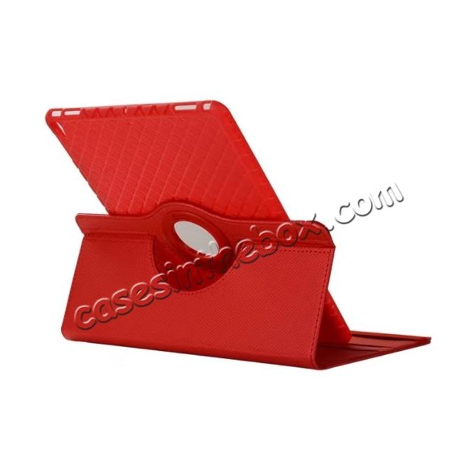 cheap 360 Degree Rotating PU Leather Case With Stand For iPad Pro 10.5 inch - Red