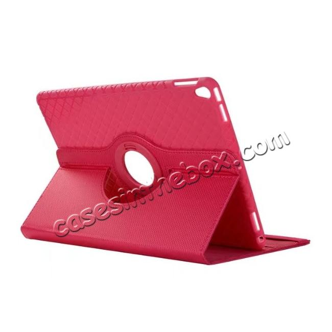 wholesale 360 Degree Rotating PU Leather Case With Stand For iPad Pro 10.5 inch - Rose