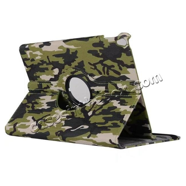 wholesale 360 Rotating Mutil-angle Stand Leather Case For iPad Pro 10.5 inch - Camouflage