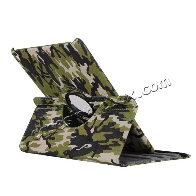 cheap 360 Rotating Mutil-angle Stand Leather Case For iPad Pro 10.5 inch - Camouflage