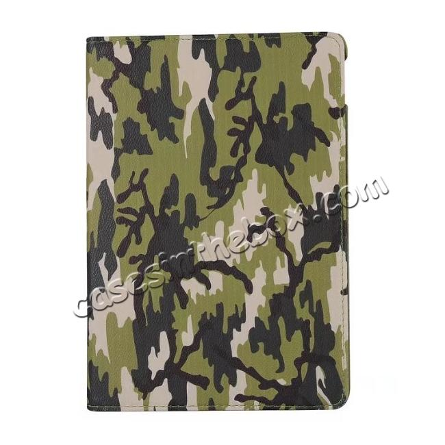 top quality 360 Rotating Mutil-angle Stand Leather Case For iPad Pro 10.5 inch - Camouflage