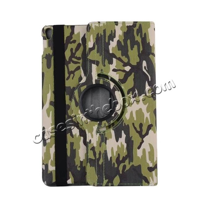 best price 360 Rotating Mutil-angle Stand Leather Case For iPad Pro 10.5 inch - Camouflage