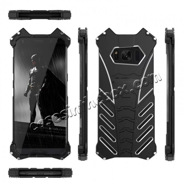 wholesale Aluminum Alloy Armor Bumper Shockproof Drop Resistance Shell Back Cover For Samsung Galaxy S8+ Plus - Black