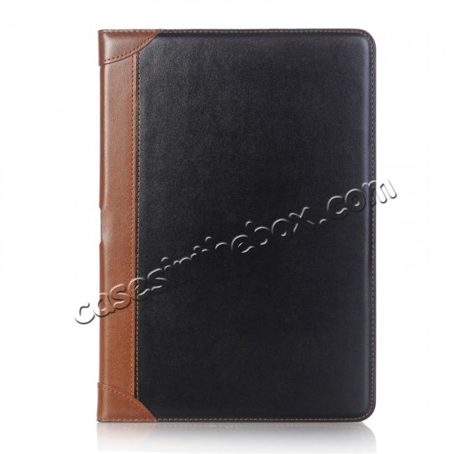 discount Business Book Style Leather Flip Stand Case for iPad Pro 10.5-inch - Black