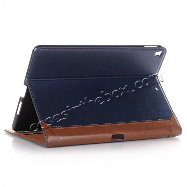 wholesale Business Book Style Leather Flip Stand Case for iPad Pro 10.5-inch - Dark Blue