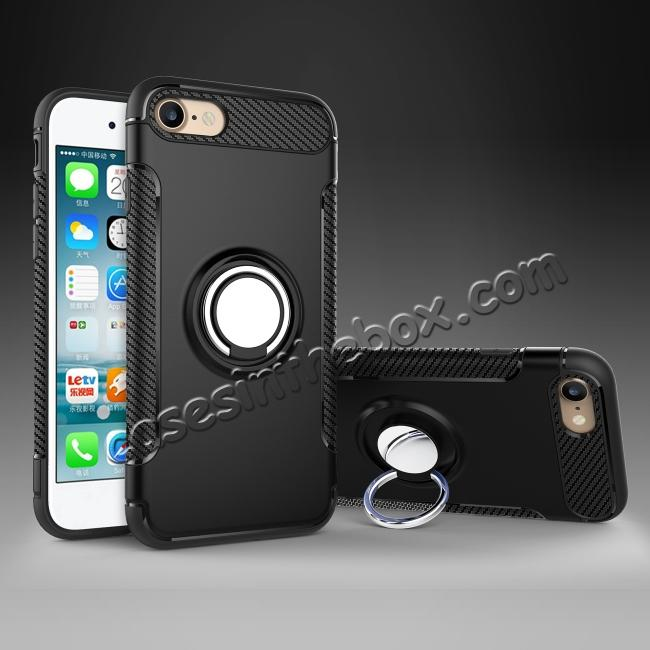 top quality Hybrid Hard and TPU Skin Shockproof Ring Armor Case For iPhone 7 / 7 Plus / 6s / 6s Plus