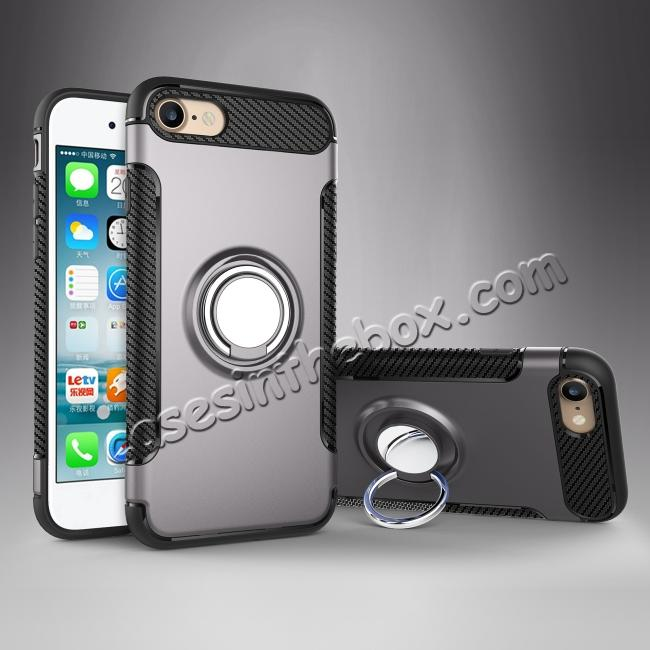 on sale Hybrid Hard and TPU Skin Shockproof Ring Armor Case For iPhone 7 / 7 Plus / 6s / 6s Plus