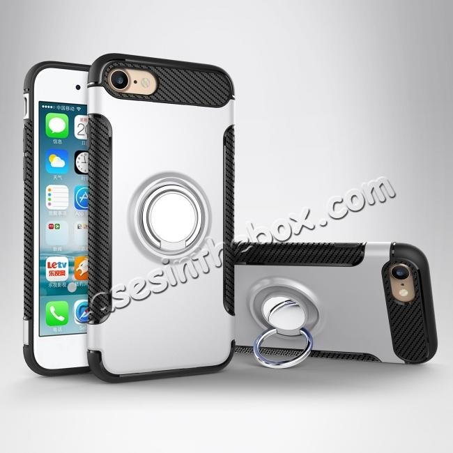 low price Hybrid Hard and TPU Skin Shockproof Ring Armor Case For iPhone 7 / 7 Plus / 6s / 6s Plus