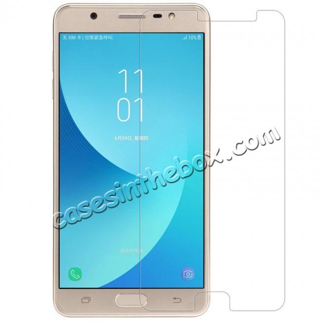 discount Premium HD Tempered Glass Film LCD Screen Protector for Samsung Galaxy J7 Max 2017