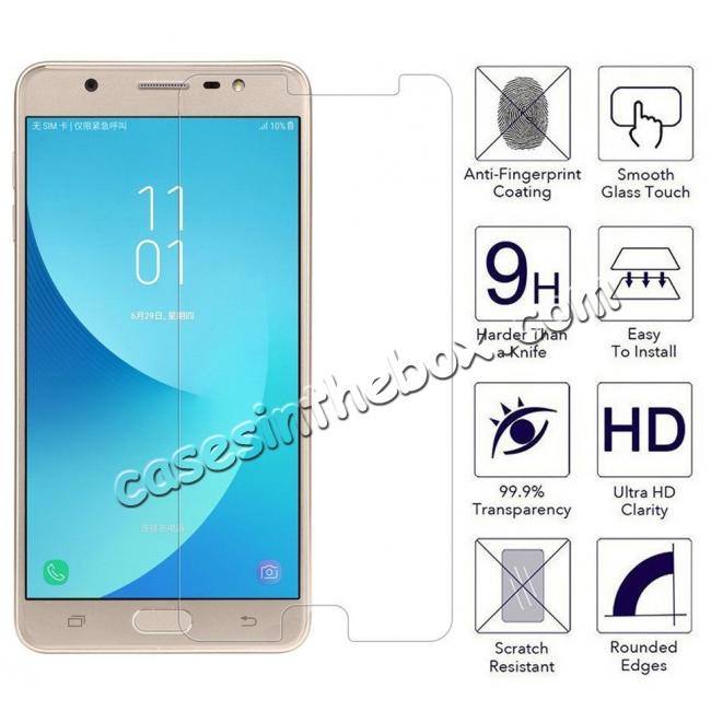 wholesale Premium HD Tempered Glass Film LCD Screen Protector for Samsung Galaxy J7 Max 2017