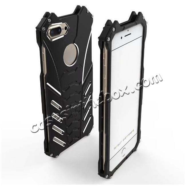 discount R-Just Aluminum Metal Shockproof Case Cover for iPhone 7 - Black