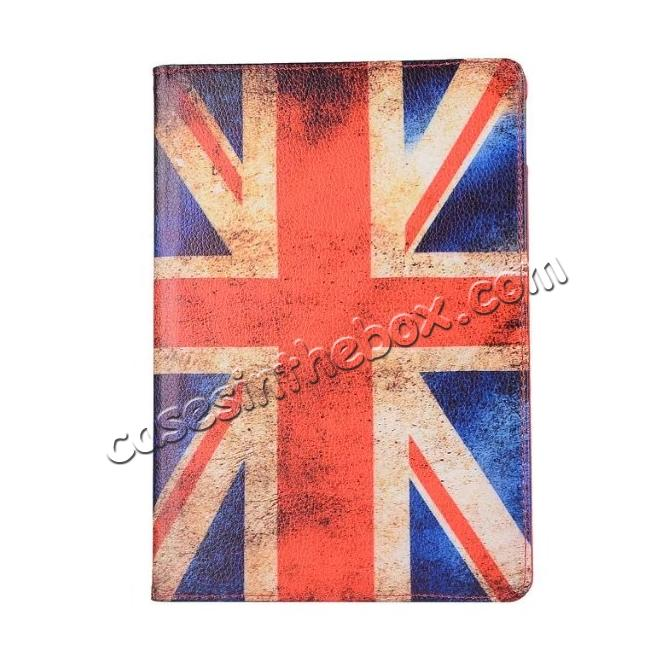 best price Retro UK Flag Pattern 360 Degree Rotating Stand Leather Case for iPad Pro 10.5-inch