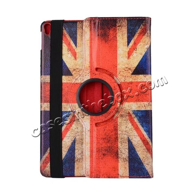 top quality Retro UK Flag Pattern 360 Degree Rotating Stand Leather Case for iPad Pro 10.5-inch