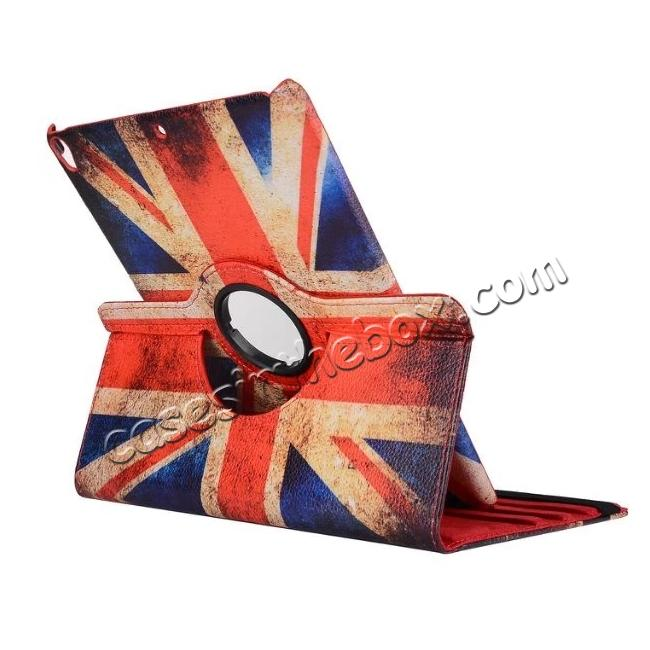 cheap Retro UK Flag Pattern 360 Degree Rotating Stand Leather Case for iPad Pro 10.5-inch