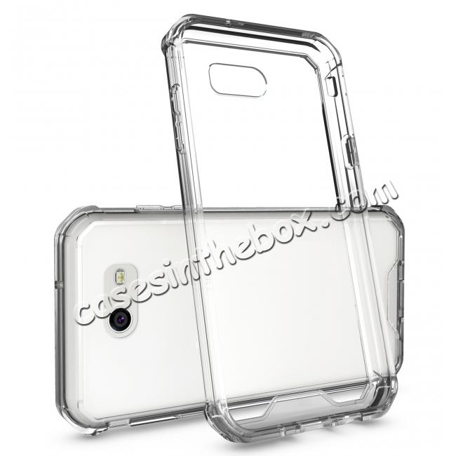 discount TPU Bumper with Clear Hard Acrylic Backplate Hybrid Case For Samsung Galaxy J3 Emerge - Clear