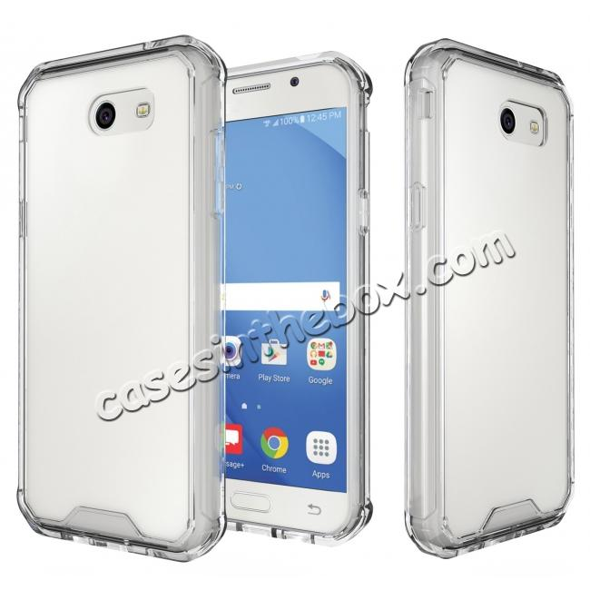 wholesale TPU Bumper with Clear Hard Acrylic Backplate Hybrid Case For Samsung Galaxy J3 Emerge - Clear