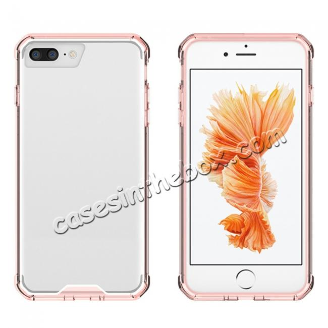 top quality Ultra Slim Acrylic Hard Cover TPU Bumper Hybrid Case For iPhone 7 / 7 Plus