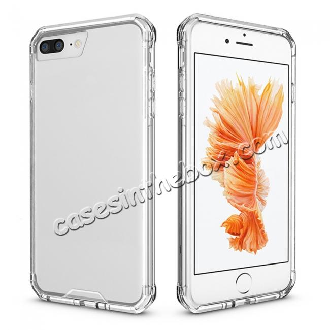 low price Ultra Slim Acrylic Hard Cover TPU Bumper Hybrid Case For iPhone 7 / 7 Plus