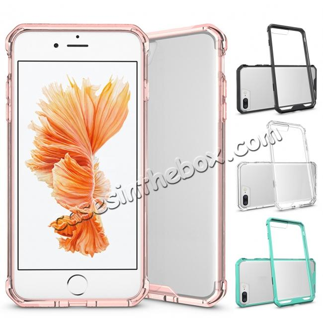 wholesale Ultra Slim Acrylic Hard Cover TPU Bumper Hybrid Case For iPhone 7 / 7 Plus