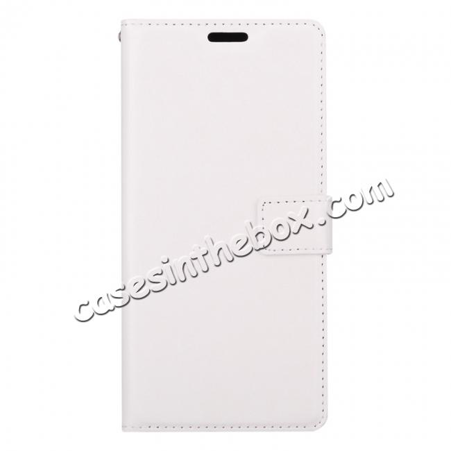 discount Crazy Horse PU Leather Case Flip Card Slot Wallet For Samsung Galaxy Note 8 - White