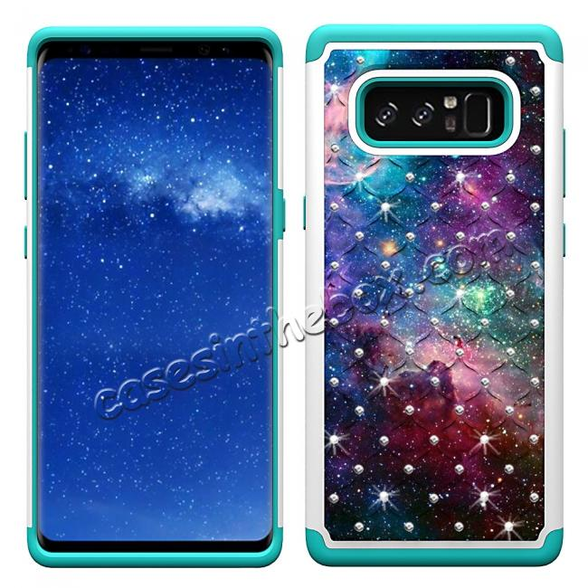 discount Crystal Bling Design Hybrid Armor Protective Case Cover For Samsung Galaxy Note 8 - Nebula