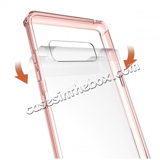 cheap Crystal Clear Hard Back Hybrid TPU Bumper Protective Case For Samsung Galaxy Note 8 - Rose gold