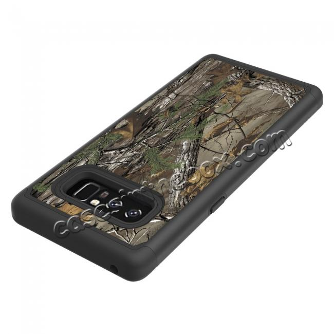 on sale Hybrid Dual Layer Shockproof Defender Phone Case Cover For Samsung Galaxy Note 8 - Camo Tree