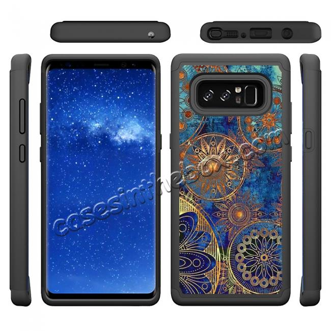 discount Hybrid Dual Layer Shockproof Defender Phone Case Cover For Samsung Galaxy Note 8 - Gear Wheel