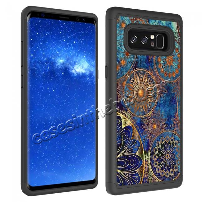 top quality Hybrid Dual Layer Shockproof Defender Phone Case Cover For Samsung Galaxy Note 8 - Gear Wheel