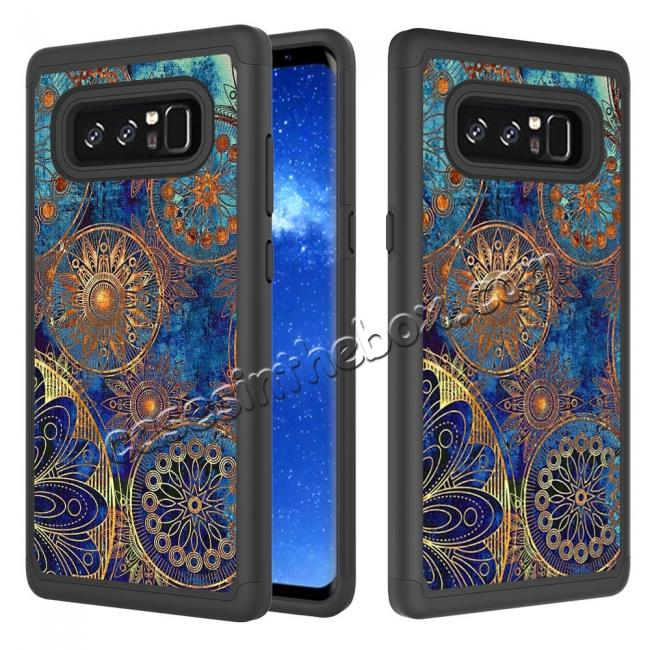 wholesale Hybrid Dual Layer Shockproof Defender Phone Case Cover For Samsung Galaxy Note 8 - Gear Wheel