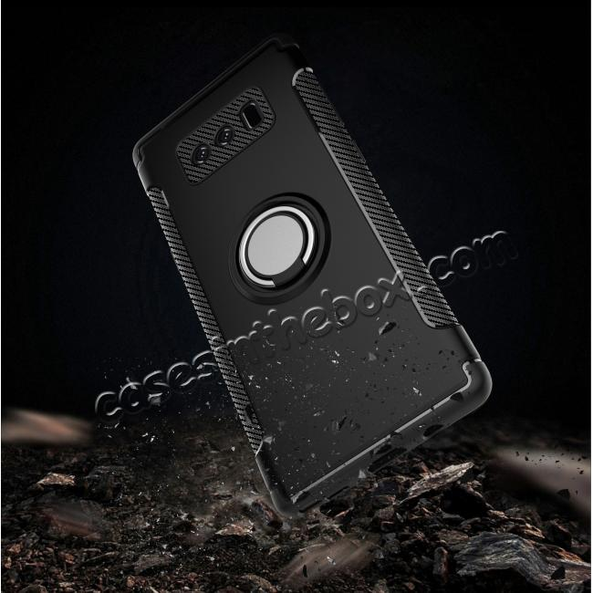 on sale Hybrid Shockproof Protective Phone Case Cover with Ring Grip Stand Holder For Samsung Galaxy Note 8