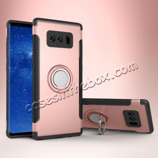 china cheap Hybrid Shockproof Protective Phone Case Cover with Ring Grip Stand Holder For Samsung Galaxy Note 8