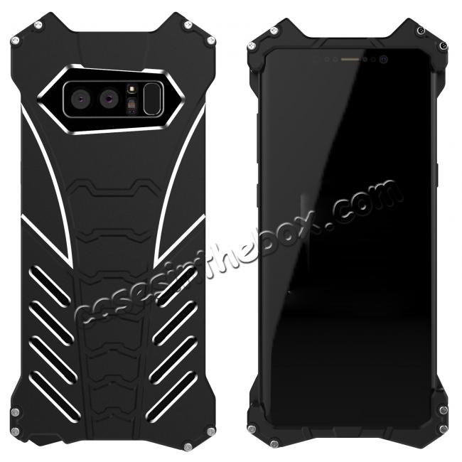wholesale R-just Aluminum Alloy Metal Shockproof Case For Samsung Galaxy Note 8 - Black