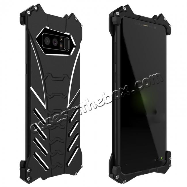 discount R-just Aluminum Alloy Metal Shockproof Case For Samsung Galaxy Note 8 - Black
