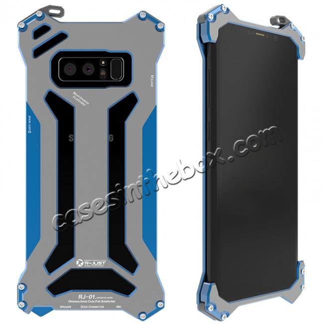 wholesale R-JUST Gundam Series Aluminum Metal Shockproof Case for Samsung Galaxy Note 8 - Blue