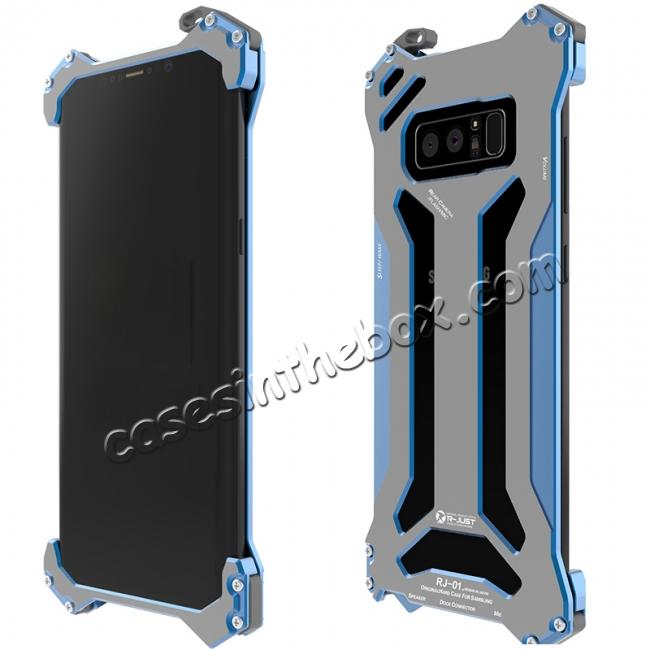 discount R-JUST Gundam Series Aluminum Metal Shockproof Case for Samsung Galaxy Note 8 - Blue