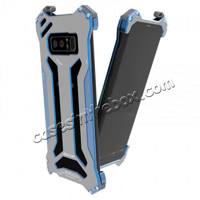 cheap R-JUST Gundam Series Aluminum Metal Shockproof Case for Samsung Galaxy Note 8 - Blue