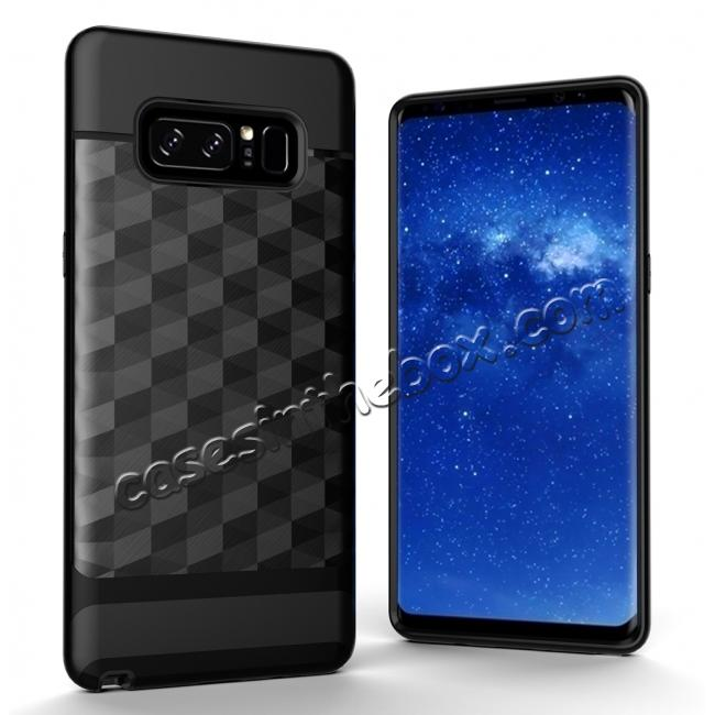 wholesale Shock-Absorption Rubber TPU Hybrid Hard Bumper Protective Case for Samsung Galaxy Note 8 - Black
