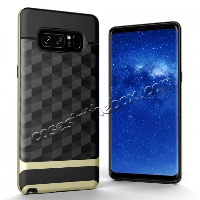 wholesale Shock-Absorption Rubber TPU Hybrid Hard Bumper Protective Case for Samsung Galaxy Note 8 - Gold