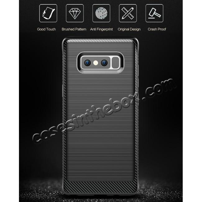 discount Shockproof Tough Brushed Texture Hybrid Armor Drop Protection Case For Samsung Galaxy Note 8