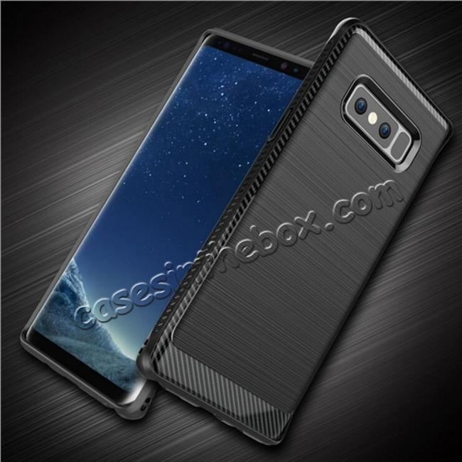 wholesale Shockproof Tough Brushed Texture Hybrid Armor Drop Protection Case For Samsung Galaxy Note 8