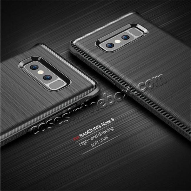 top quality Shockproof Tough Brushed Texture Hybrid Armor Drop Protection Case For Samsung Galaxy Note 8