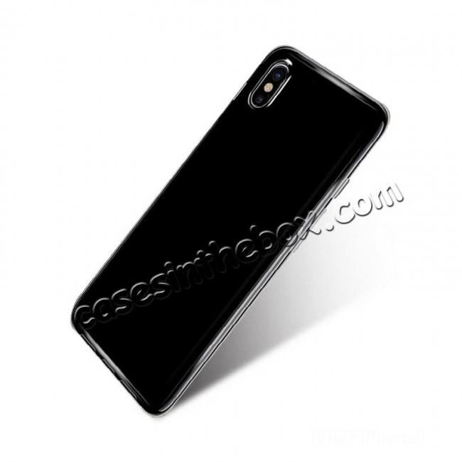 top quality Ultra-tin Soft TPU Shockproof Back Case Cover for iPhone X - Tansparent