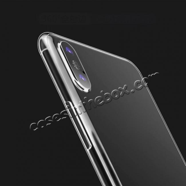 on sale Ultra-tin Soft TPU Shockproof Back Case Cover for iPhone X - Tansparent