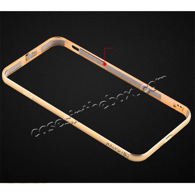 low price Deluxe Metal Aluminum Frame Carbon Fiber Back Case Cover For iPhone 8 4.7 inch - Gold
