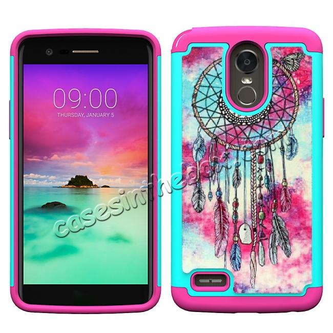 wholesale Hybrid Dual Layer Armor Defender Protective Case Cover For LG Stylo 3 / Stylo 3 Plus - Dream Catche