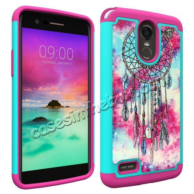 discount Hybrid Dual Layer Armor Defender Protective Case Cover For LG Stylo 3 / Stylo 3 Plus - Dream Catche